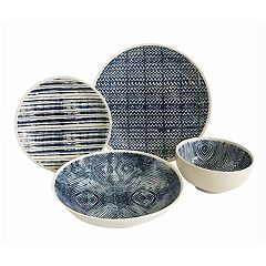 Baum Dalton Blue 16-pc. Dinnerware Set