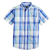 Boys 4-20 Chaps Milo Plaid Button-Down Shirt