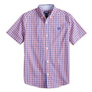 Boys 4-20 Chaps Cameron Plaid Button-Down Shirt.