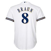 Boys 8-20 Milwaukee Brewers Ryan Braun Replica Jersey