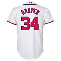 Boys 8-20 Washington Nationals Bryce Harper Replica Jersey