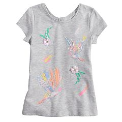 Girls 4-12 SONOMA Goods for Life® Graphic Keyhole-Back Tee