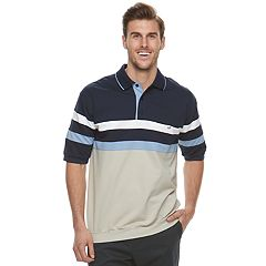 Big & Tall Safe Harbor Regular-Fit Banded-Bottom Polo
