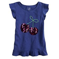 Girls 4-12 SONOMA Goods for Life® Embellished Ruffled Top