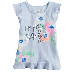 Girls 4-12 SONOMA Goods for Life™ Embellished Ruffled Top