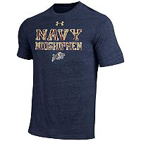 Men's Under Armour Navy Midshipmen Heathered Tee