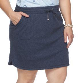 Plus Size Croft & Barrow® Solid Knit Skort