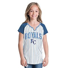 Girls 6-16 Kansas City Royals Pin Stripe Jersey Tee