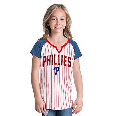 Girls 6-16 Philadelphia Phillies Pin Stripe Jersey Tee
