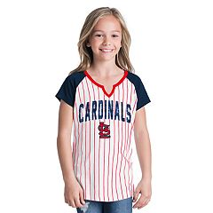 Girls 6-16 St. Louis Cardinals Pin Stripe Jersey Tee