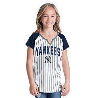 Girls 6-16 New York Yankees Pin Stripe Jersey Tee