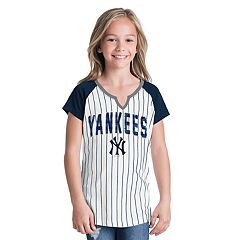 Girls 6-16 New York Yankees Pin Stripe Jersey Tee
