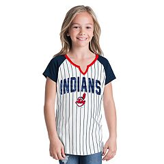 Girls 6-16 Cleveland Indians Pin Stripe Jersey Tee