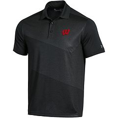 Men's Under Armour Wisconsin Badgers Vivid Print Polo