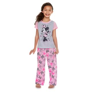 Disney's Minnie Mouse Girls 4-10 Minnie Tee & Bow Bottoms By Jammies For Your Families