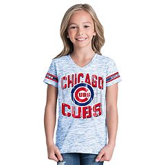Girls 6-16 Chicago Cubs Space Dye Jersey Tee