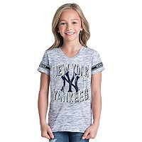 Girls 6-16 New York Yankees Space Dye Jersey Tee