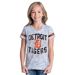 Girls 6-16 Detroit Tigers Space Dye Jersey Tee