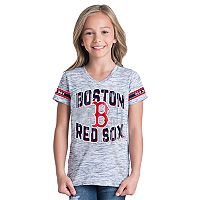 Girls 6-16 Boston Red Sox Space Dye Jersey Tee