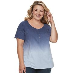 Plus Size SONOMA Goods for Life™ Raglan Henley Tee