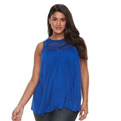 Plus Size Apt. 9® Inset Lace Swing Tank