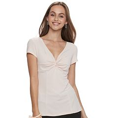 Juniors' Candie's® Twist-Front Tee
