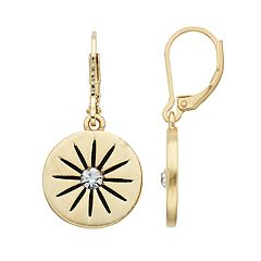 Simply Vera Vera Wang Starburst Nickel Free Disc Drop Earrings