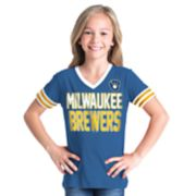 Girls 6-16 Milwaukee Brewers Team Tee