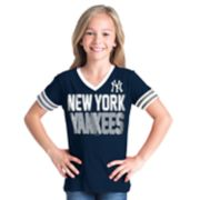 Girls 6-16 New York Yankees Team Tee