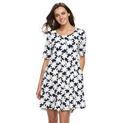 Women's Nina Leonard Daisy Shift Dress