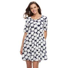 Women's Nina Leonard Daisy Shift Dress