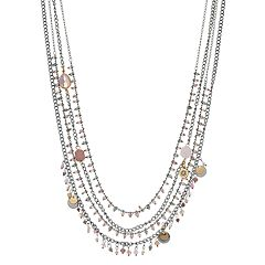 Simply Vera Vera Wang Beaded Long Multi Strand Necklace