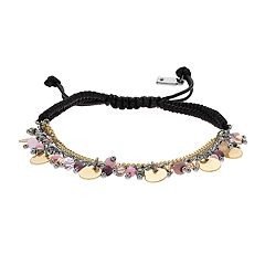 Simply Vera Vera Wang Bead & Disc Slipknot Bracelet