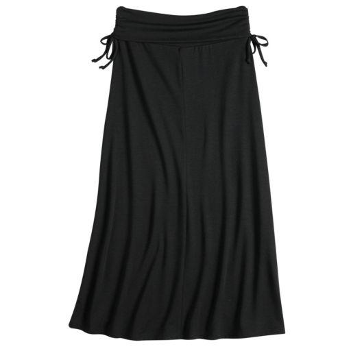 Girls 7-16 Joey B Side Tie Fold Over Maxi Skirt