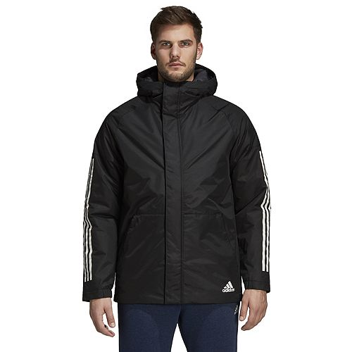 Men's adidas Outdoor Xploric 3-Stripe Slim-Fit Hooded Jacket