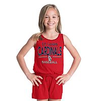 Girls 6-16 St. Louis Cardinals Romper