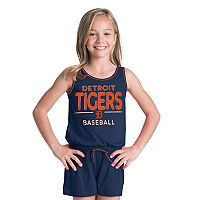 Girls 6-16 Detroit Tigers Romper