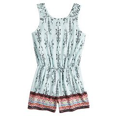Girls 7-16 Mudd® Lattice Tank Romper