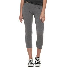 Juniors' SO® Lattice Capri Leggings