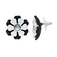 Simply Vera Vera Wang Black & White Nickel Free Flower Stud Earrings