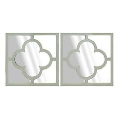 Belle Maison Trellis Wall Mirror 2-piece Set