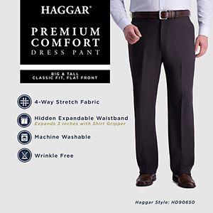 Big & Tall Haggar® Premium Comfort Expandable-Waist Classic-Fit Stretch Flat-Front Dress Pants