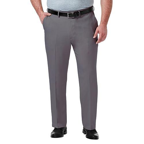 Haggar Mens Premium Comfort Classic Fit Flat Front Expandable Waist Pant