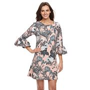 Women's Nina Leonard Floral Print Shift Dress