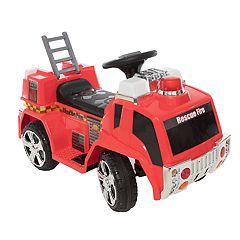 Wonderlanes 6V Rescue Fire Truck Ride-on Vehicle