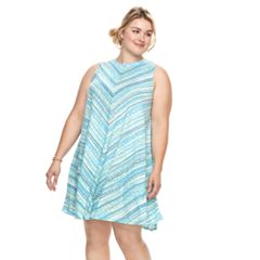 Plus Size SONOMA Goods for Life™ High Neck Swing Dress
