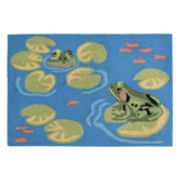 Liora Manne Frontporch Frogs Indoor Outdoor Rug