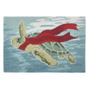 Liora Manne Frontporch Turtle Season Indoor Outdoor Rug