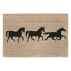 Liora Manne Frontporch Horses Indoor Outdoor Rug