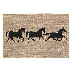 Liora Manne Frontporch Horses Indoor Outdoor Rug